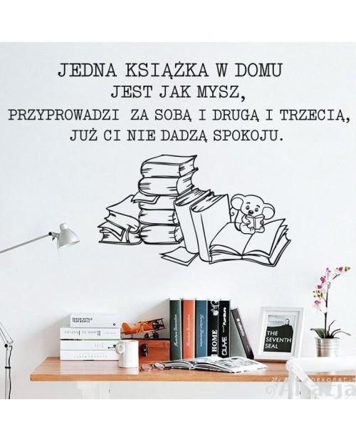 Naklejka: Jedna książka jest jak mysz