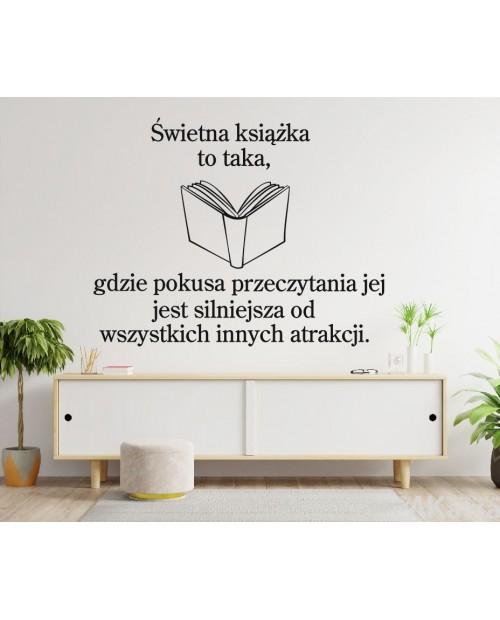 Naklejka na ścianę: Świetna książka