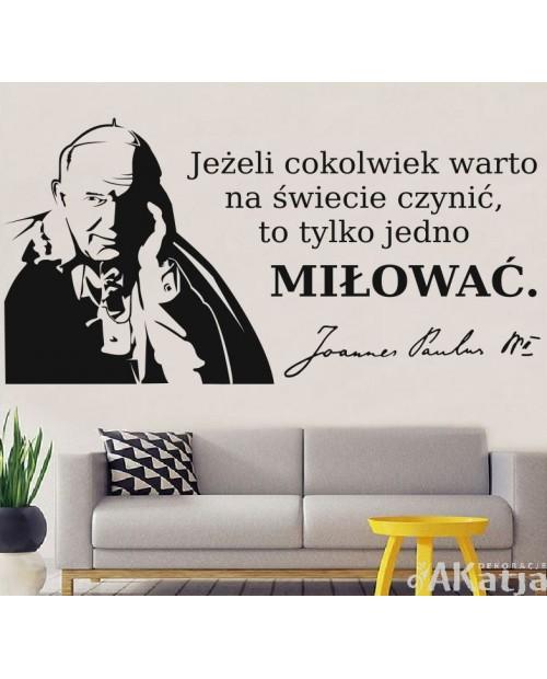 Naklejka Jan Paweł II z cytatem
