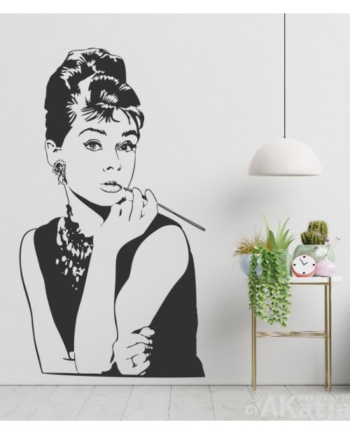 Naklejka postać Audrey Hepburn