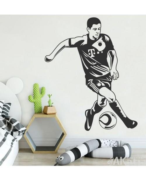 Naklejka Lewandowski z piłką