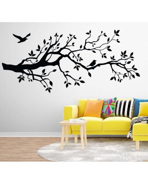 Naklejka Drzewo Gałąź i Ptaki