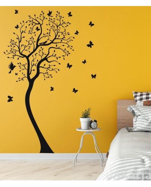 Naklejka Drzewo i motyle