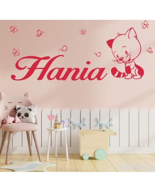 Naklejka dla dzieci imiona kotek