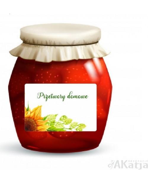 Etykiety Przetwory Domowe Słonecznik