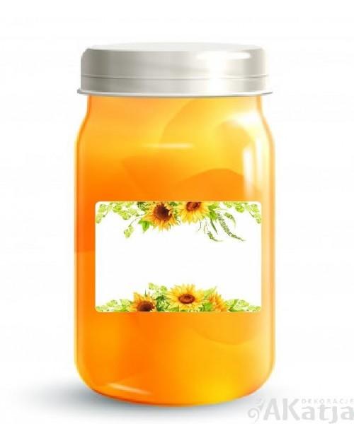 Zestaw naklejek na przetwory- Słoneczniki