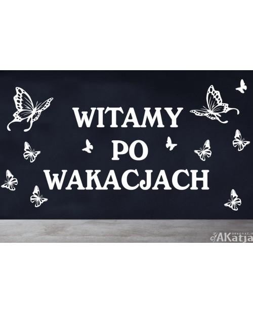 Naklejka: Witamy Po Wakacjach
