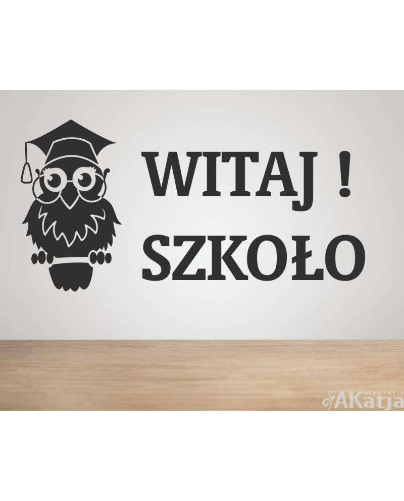 Naklejka: Witaj Szkoło!