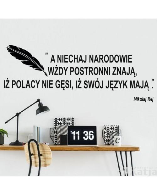 Naklejka na ścianę: Polacy nie gęsi
