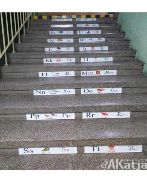 Alfabet na schody 80x10cm