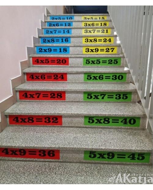 Tabliczka mnożenia trudne działania - 32 naklejki
