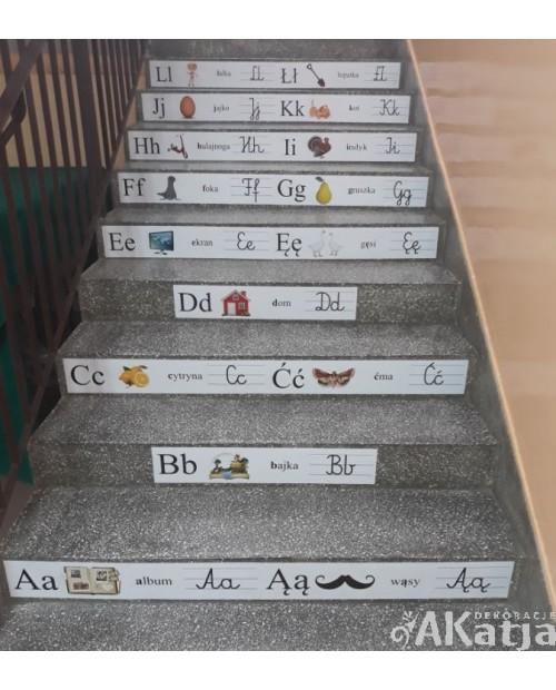 Alfabet na schody z polskimi literami 80x14cm