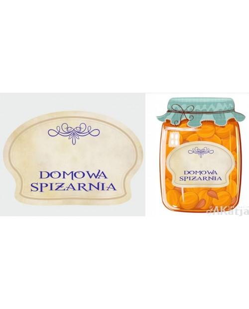 Etykiety Domowa Spiżarnia vintage fioletowy