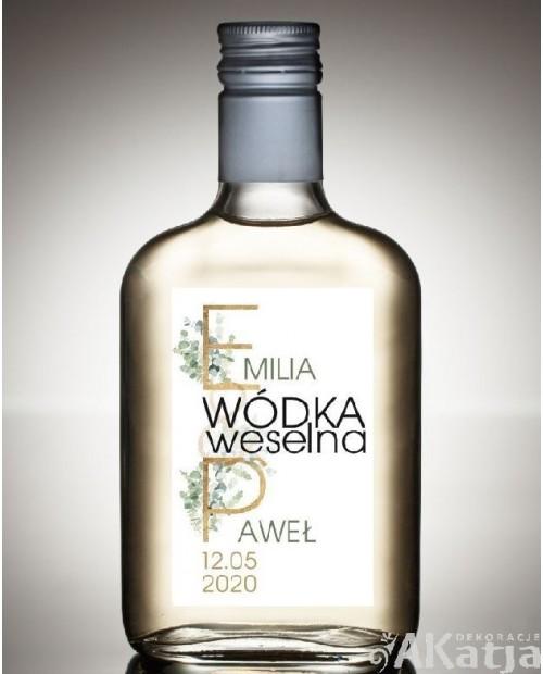 Etykieta na Alkohol Weselny - Oliwkowe Listki