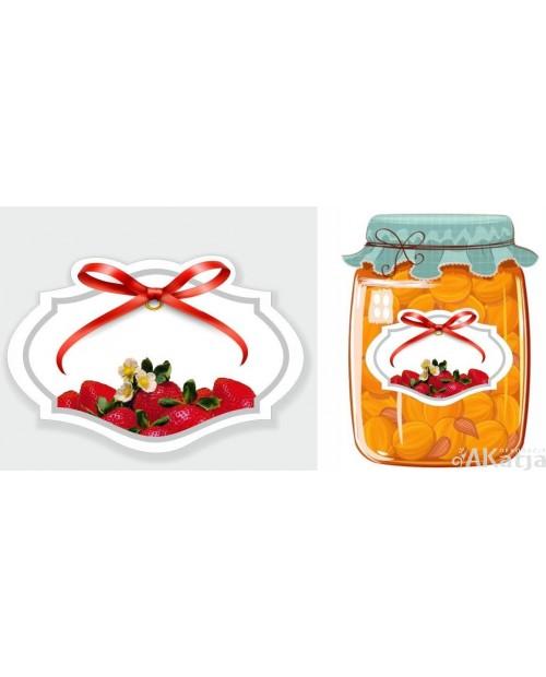 Etykiety przetwory truskawkowe