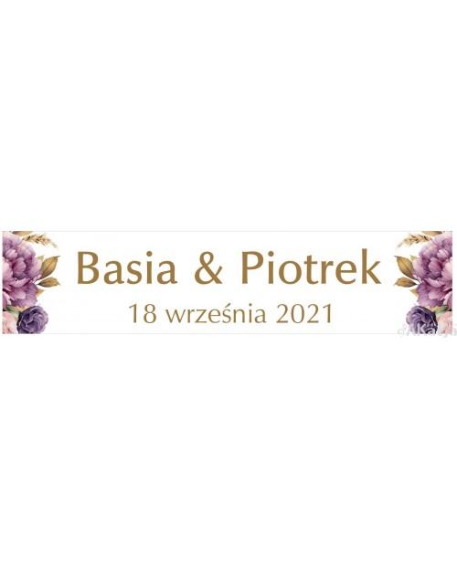 Ślubna Tablica Rejestracyjna - Jesienne Piwonie 2 sztuki