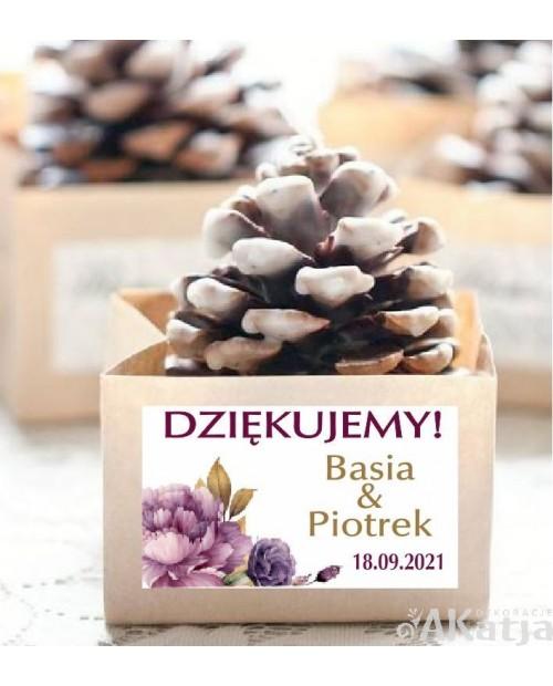 Mini Etykiety z Podziękowaniem -Jesienne Piwonie