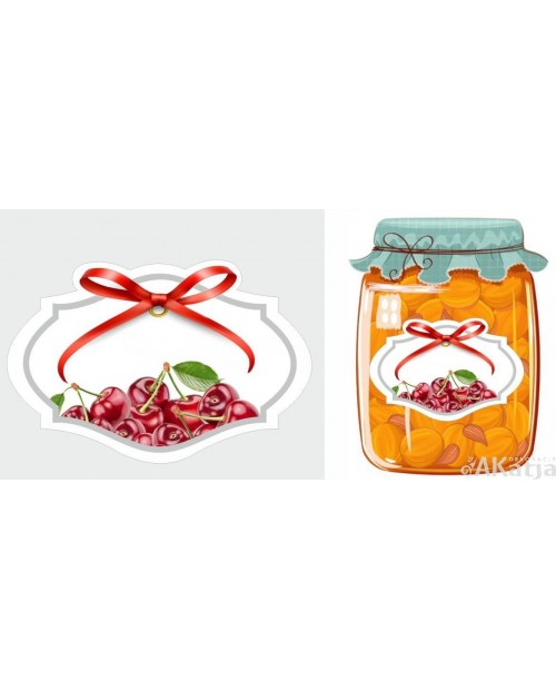 Etykiety przetwory wiśniowe