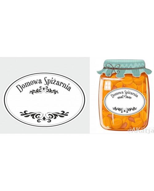 Etykiety Domowa Spiżarnia białe klasyczne