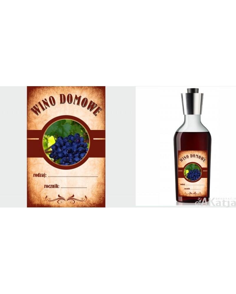 Etykiety Wino Domowe
