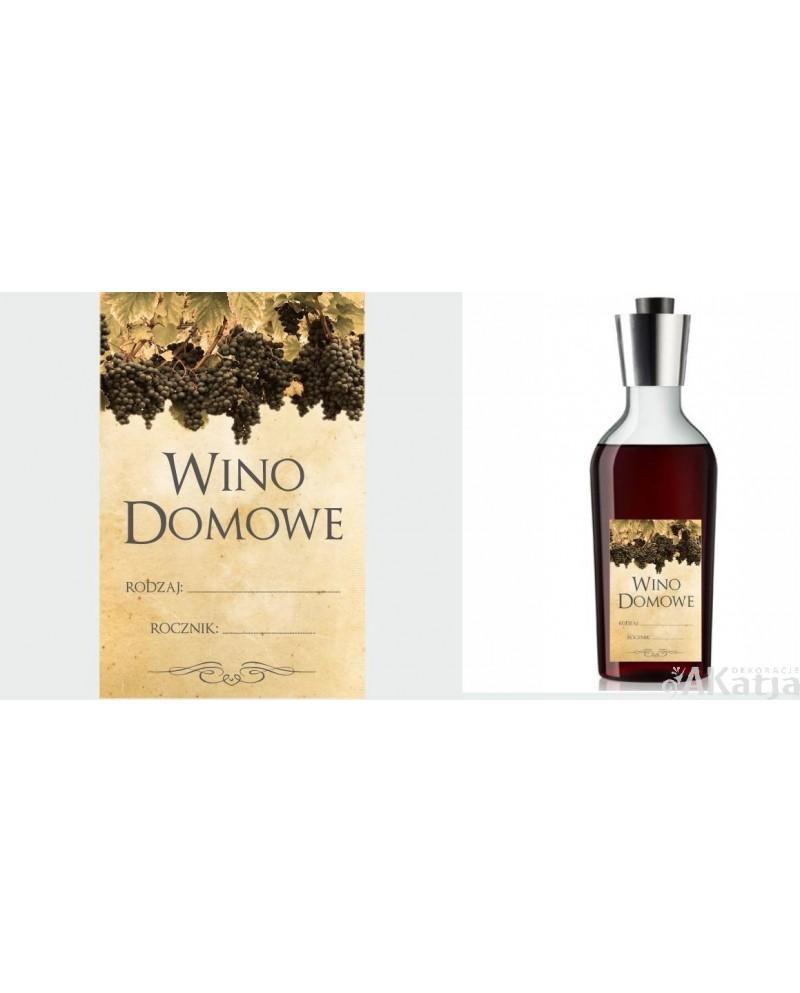 Etykiety Na Wino Domowe Z Ciemnych Winogron Akatja