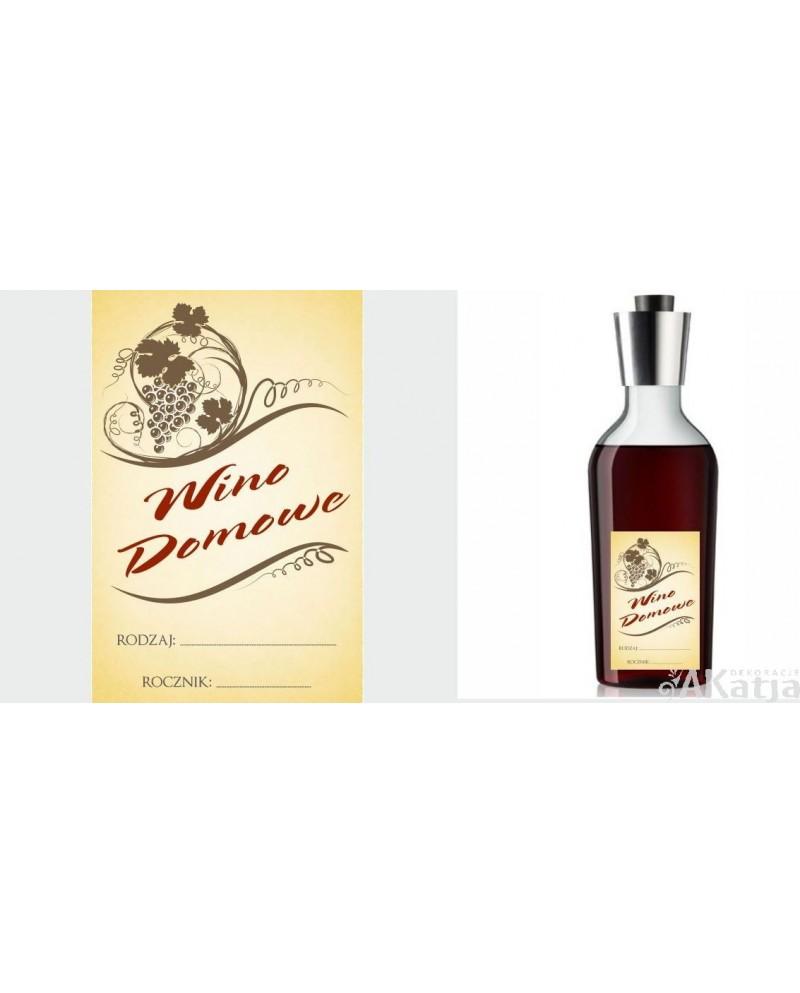 Etykiety Na Wino Domowe Z Rysunkiem Winogron Akatja