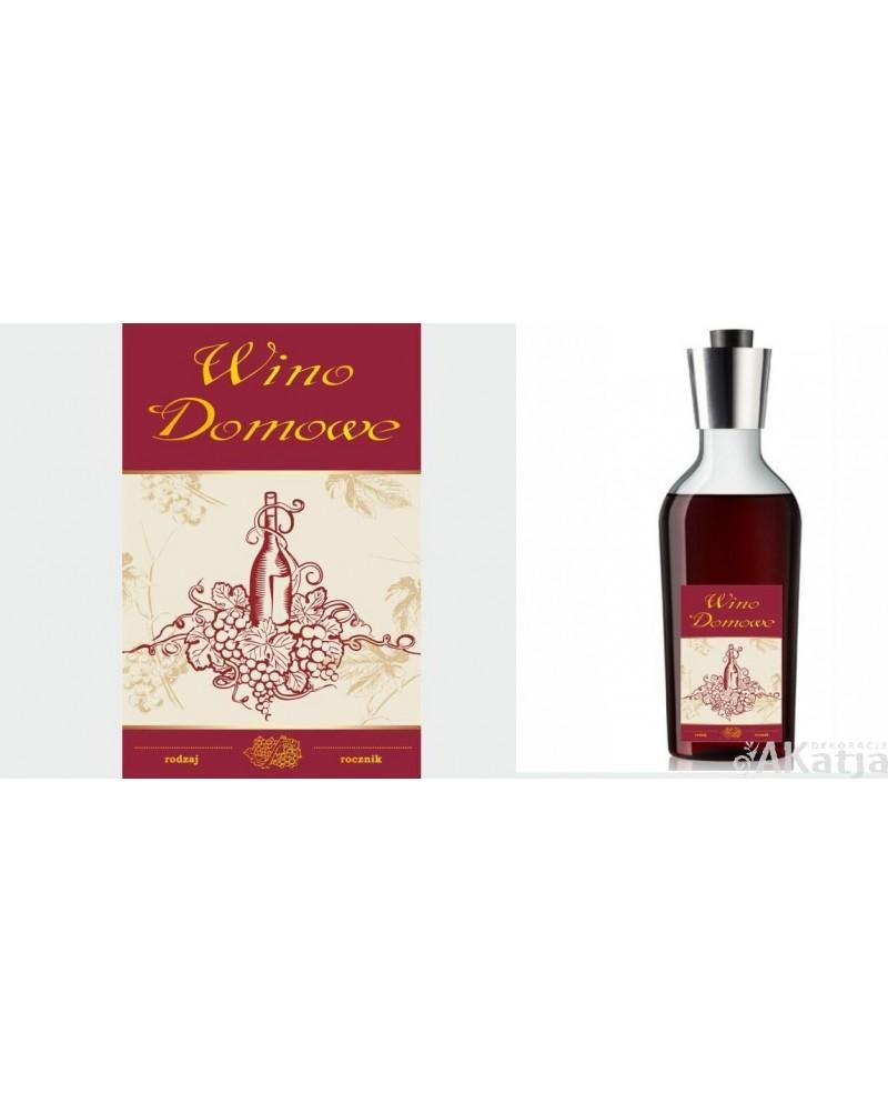 Etykiety Na Wino Domowe Z Rysunkiem Winogron I Butelki Akatja
