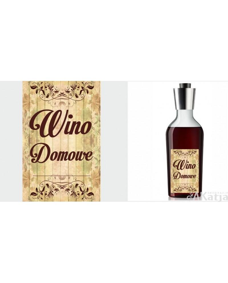 Etykiety Na Wino Domowe Wzór Vintage Brązowe Napisy Akatja