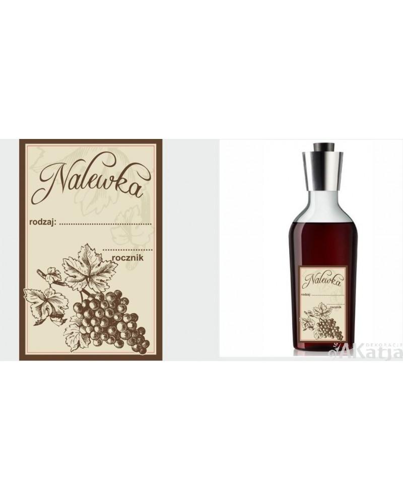 Etykiety Na Nalewkę Vintage Z Rysunkiem Winogrona Akatja