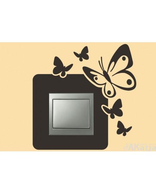 Naklejka pod włącznik motyl i motylki