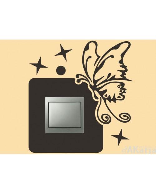 Naklejka pod włącznik z motylem