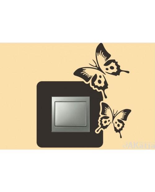 Naklejka pod włącznik z dwoma motylami