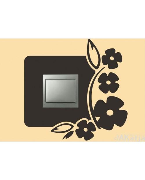 Naklejka pod włącznik z kwiatkami