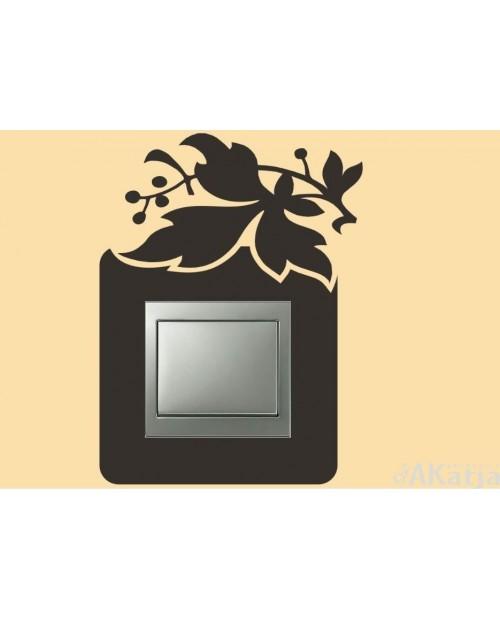 Naklejka pod włącznik z liściem