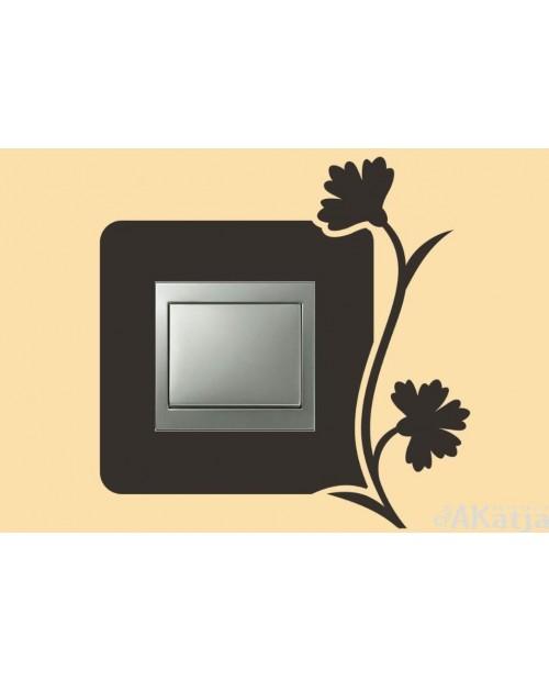 Naklejka pod włącznik dwa kwiatki