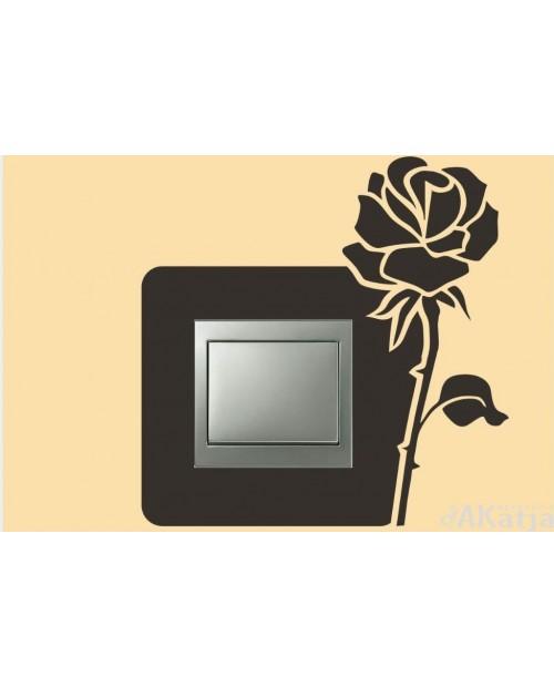 Naklejka pod włącznik róża