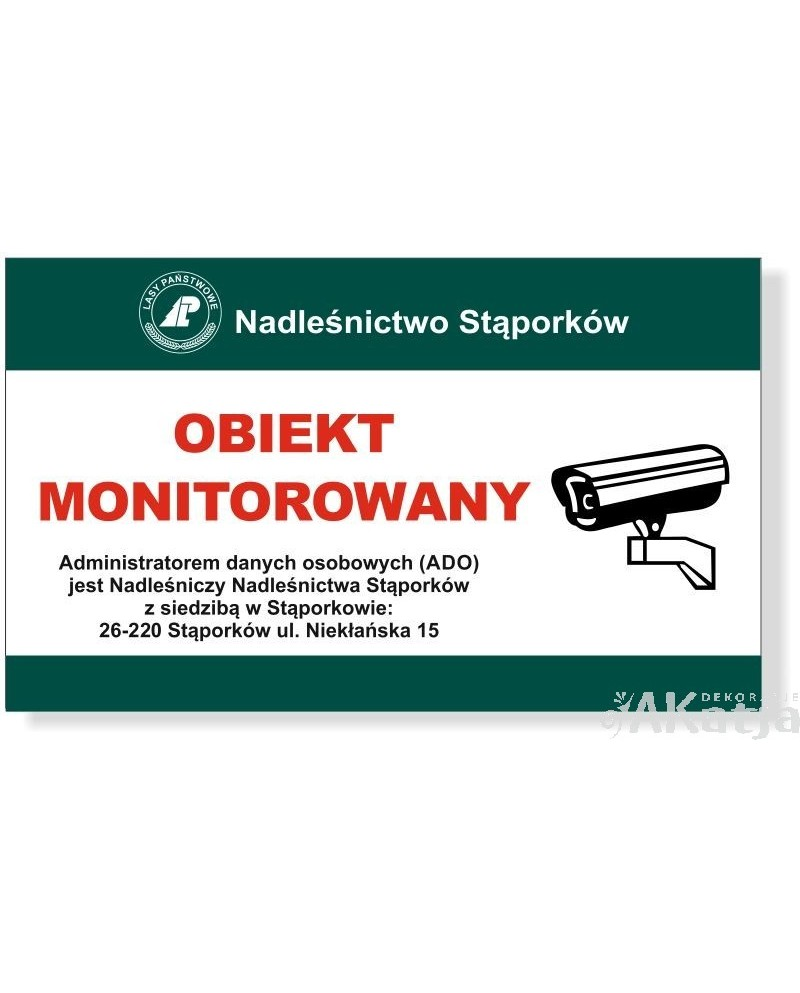 Tabliczka Teren Monitorowany