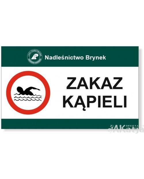 Tabliczka Zakaz Kąpieli