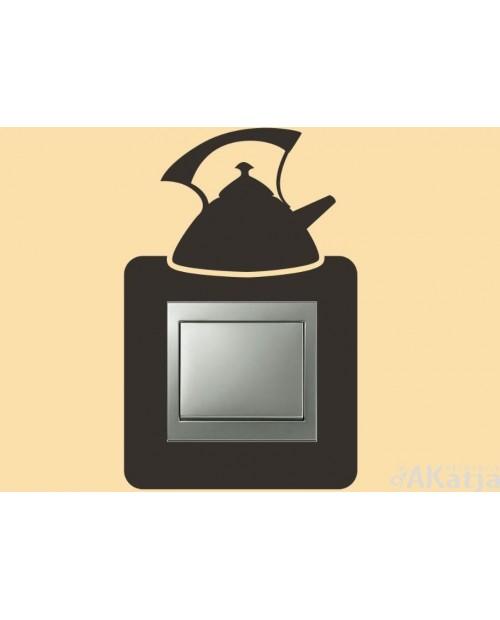 Naklejka pod włącznik z czajnikiem kuchennym