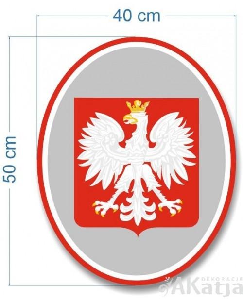 Tabliczka Godło Polski owalne