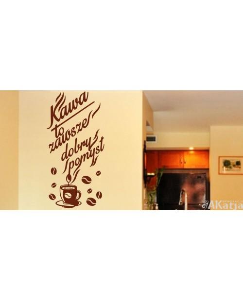 Naklejka do kuchni Kawa to zawsze...