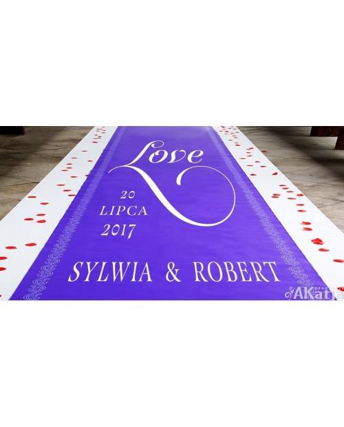 Naklejka ślubna na dywan Love