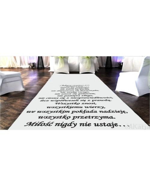 Hymn do miłości naklejka na dywan