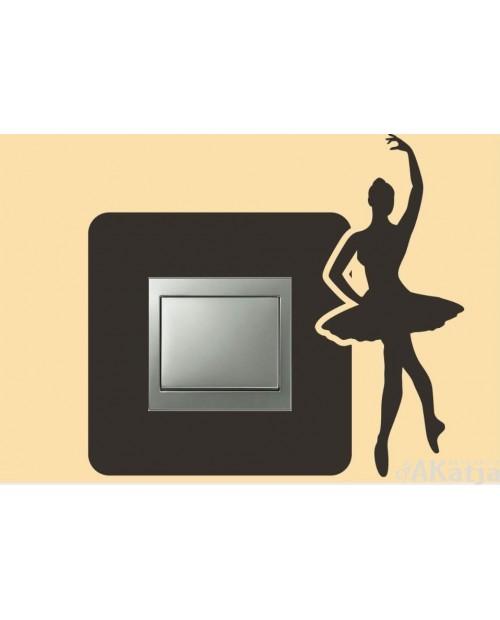 Naklejka pod włącznik z baletnicą