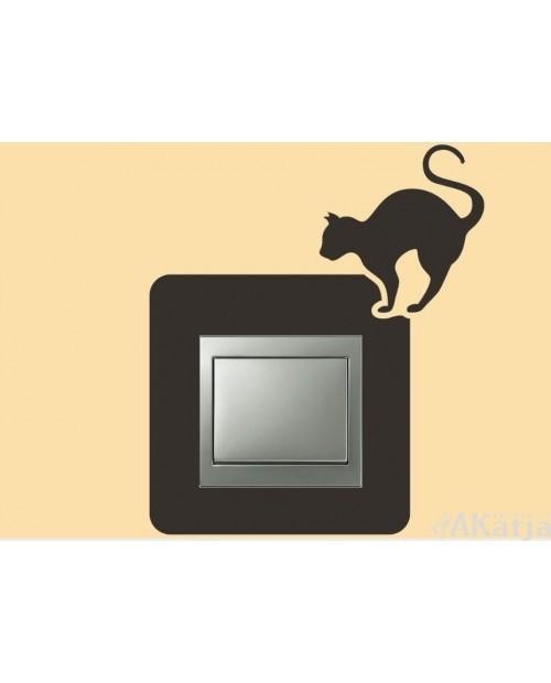 Naklejka pod włącznik kot