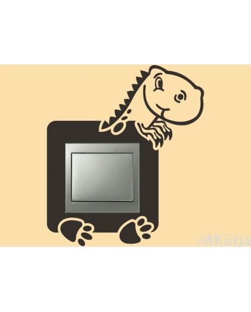 Naklejka pod włącznik dinozaur