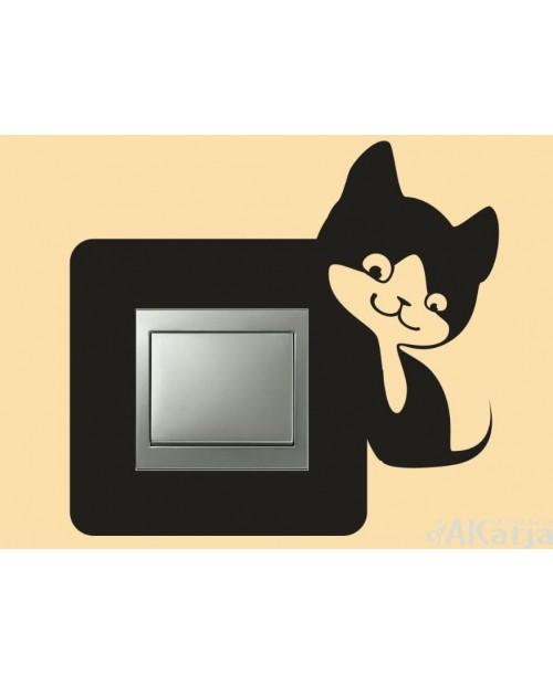 Naklejka pod włącznik z kotkiem