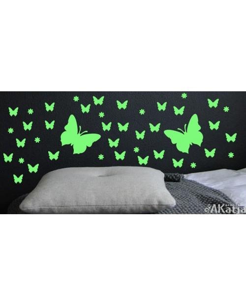 Naklejka świecąca w nocy motyle