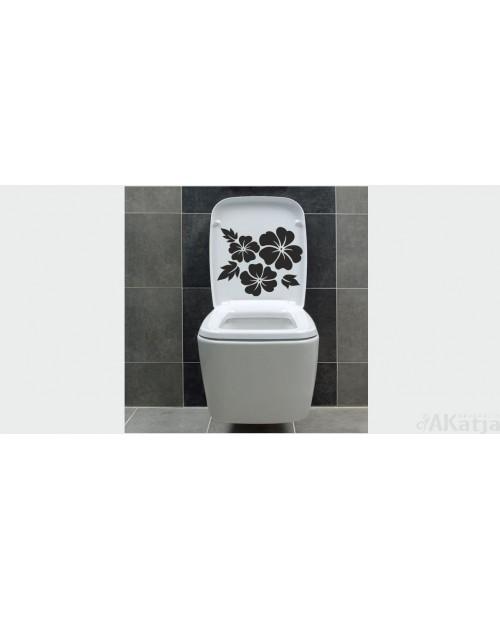 naklejka trzy hibiskusy do łazienki
