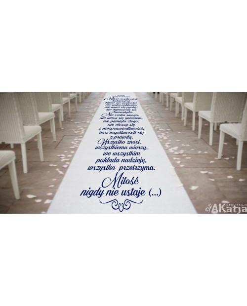 Hymn do miłości na dywan do kościoła ozdobny